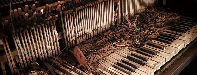 piano roto teclas rotas afinacion