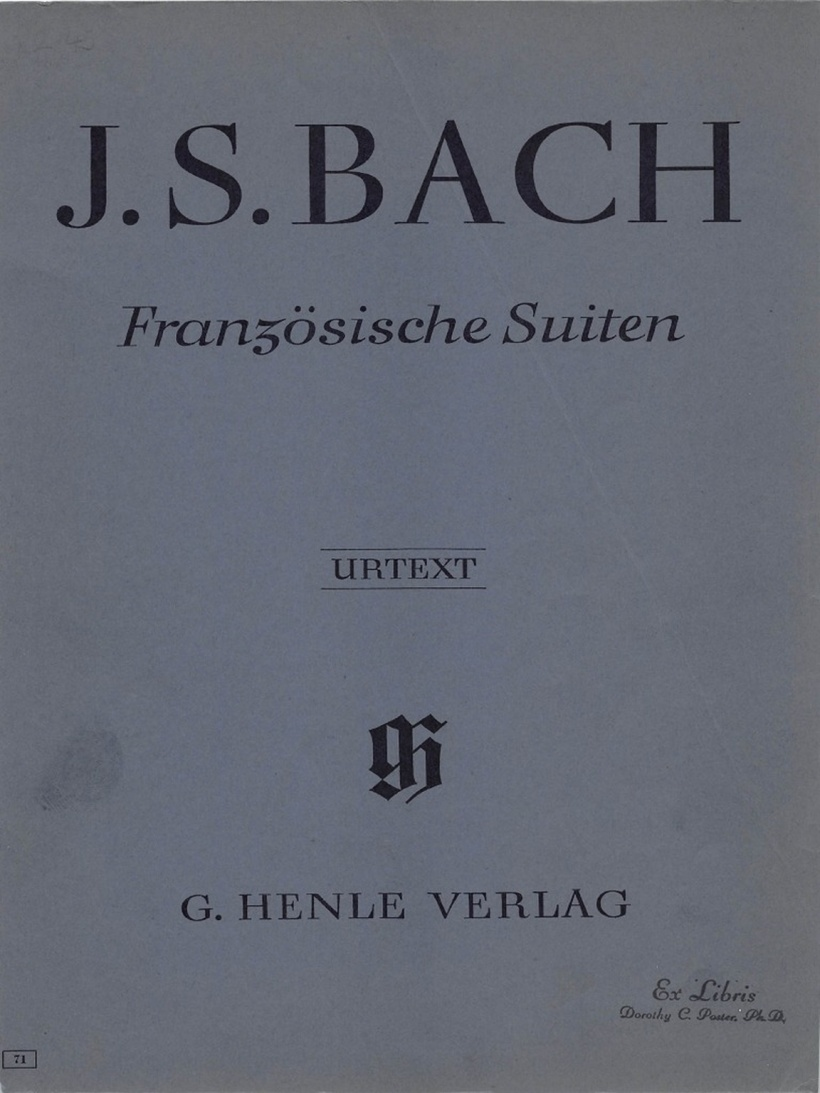 J. S. Bach - French Suites Urtext